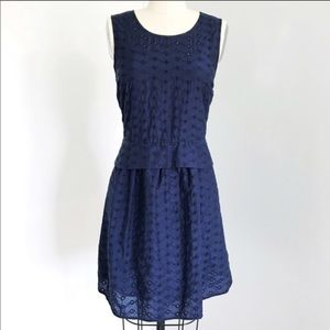 Marc By Marc Jacobs Navy Eyelet Dress